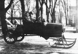 Model T Roadster with Snowmobile Conversion