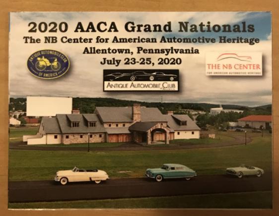 2020 AACA Grand Nationals dash plaque